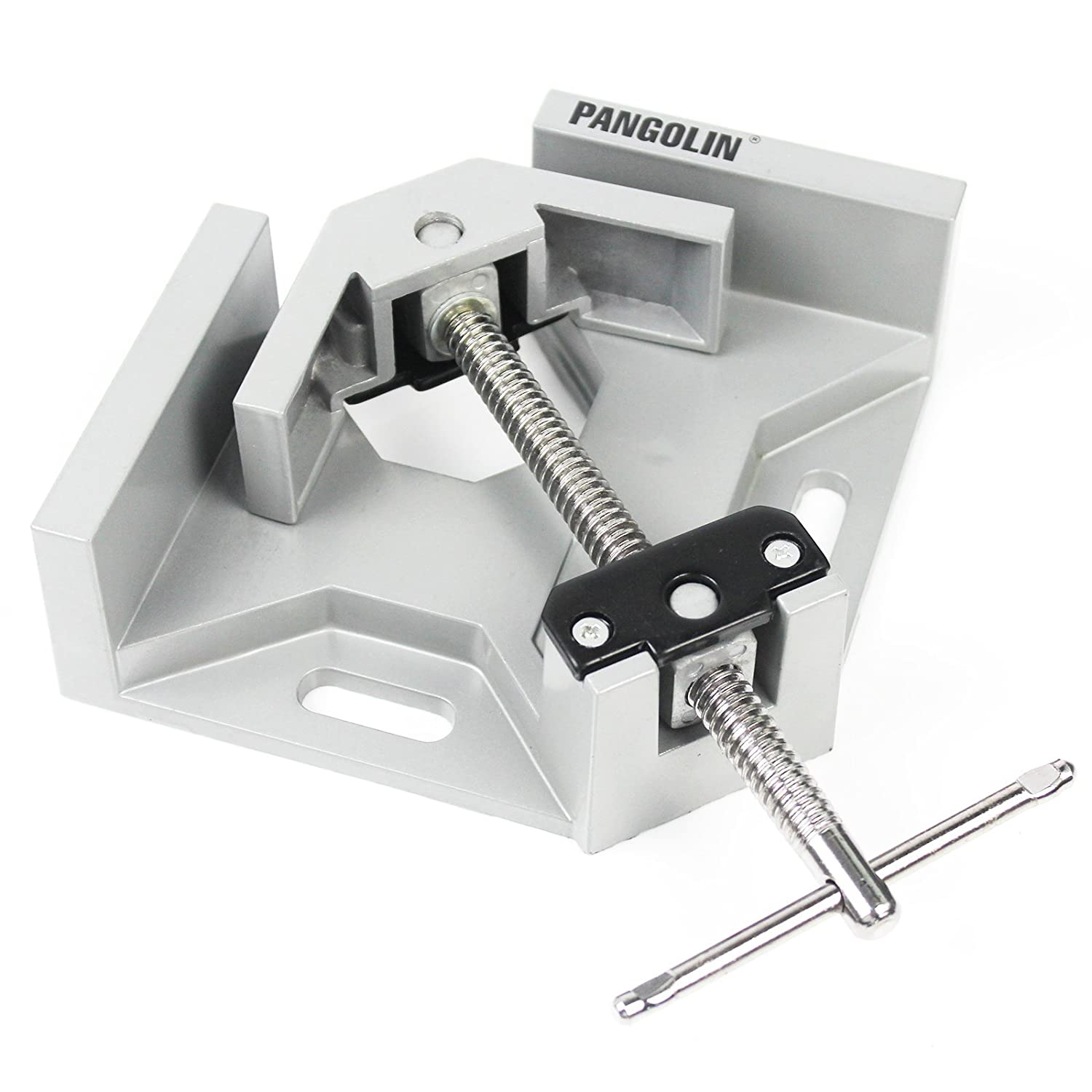 Corner Clamp Holders, PANGOLIN 90 Degree Quick Release Aluminum Corner Clamp with Adjustable Swing Jaw Ideal for Woodworking Vise,Photo Frame,and Mental Welding.