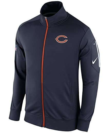 Amazon.com   Nike Chicago Bears Dri-Fit Empower Navy Full Zip Jacket ... 07d7a4b5b