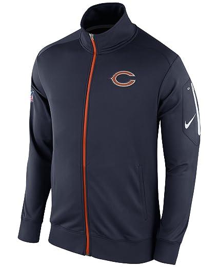 aa25cb3d Amazon.com : Nike Chicago Bears Dri-Fit Empower Navy Full Zip Jacket ...