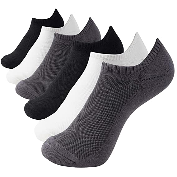 +MD 6 Paar Bambus Sneaker Socken Damen und Herren Sportsocken Ideal für Sport, Freizeit und Business