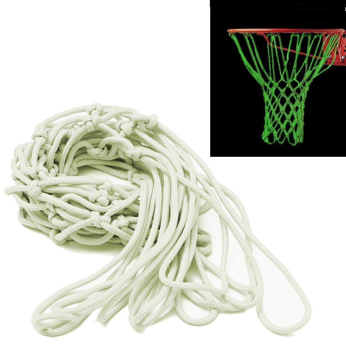 Rete da basket,CAMTOA Bagliore nel Buio Rete per canestro da basket,Outdoor Nylon Basketball Net,Portatile Solare Alimentato Sostituzione Netto Sport Neti da Basket per Canestro da basket Formazione, Perfetto per Adulti e Bambini