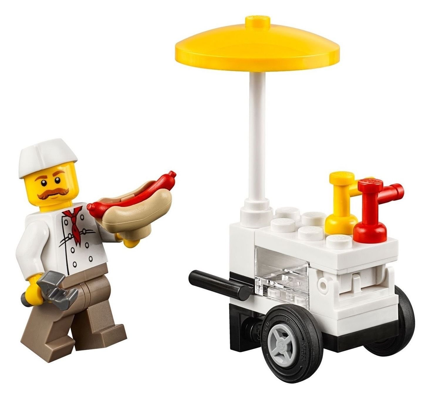 LEGO Hot Dog Vendor  Cart Minifigure [Loose] by LEGO