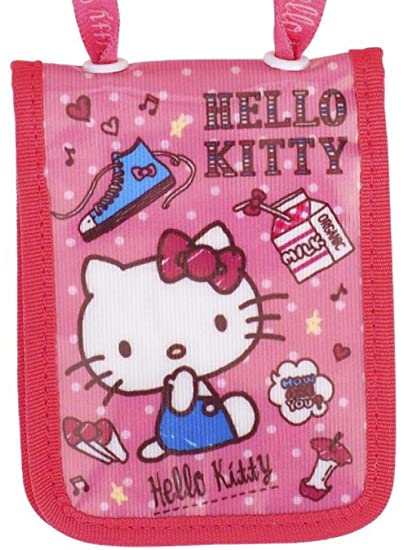 5548b7acb Image Unavailable. Image not available for. Color: Hello Kitty Bifold Multi Card  Case w/Zipper Pocket Badge ID Credit Card Pass Holder