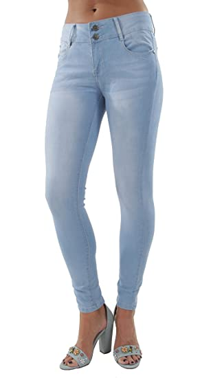 0c2ff88ae92 Classic Fit Design Basic Skinny Jeans in Light Blue Size 7 at Amazon ...