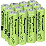 NiMH Rechargeable AA Battery High Capacity 1.2V Pre Charged Double A Battery for Solar Lights, Battery String Lights, TV Remo