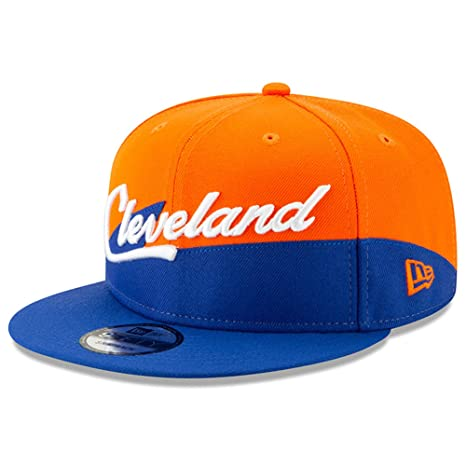 9a5712617e7 Amazon.com   New Era Cleveland Cavaliers 2018 City Edition Adjustable Snapback  Hat Orange Blue   Sports   Outdoors