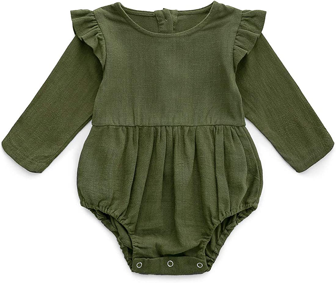 baby linen romper linen overalls baby linen playsuit newborn outfit long sleeves linen romper Linen romper 12-18m