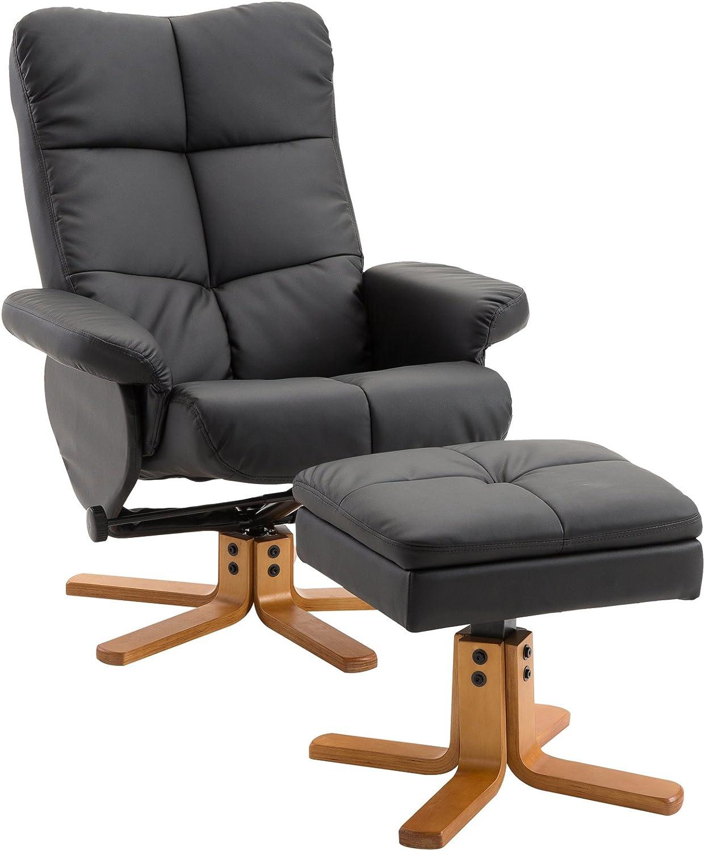 HOMCOM Relaxsessel Fernsehsessel Couch-Sessel Liegesessel mit 2 Getr/änkehalter Braun L85 /× B98 /× H103 cm