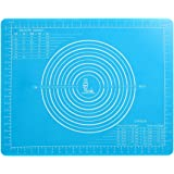 Non-Slip Silicone Pastry Mat with Measurements for Silicon Baking Mats, Non-Stick Dough Rolling Mat, Kneading/Place Mats, Fon
