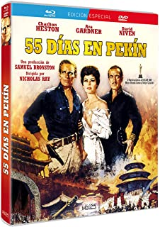55 D as en Pekin / 55 Days in Peking 1963 Fifty Five Days in Peking Blu-Ray: Amazon.es: Ava Gardner, Charlton Heston, David Niven, Elizabeth Sellars, Flora Robson, Harry Andrews, John Ireland,