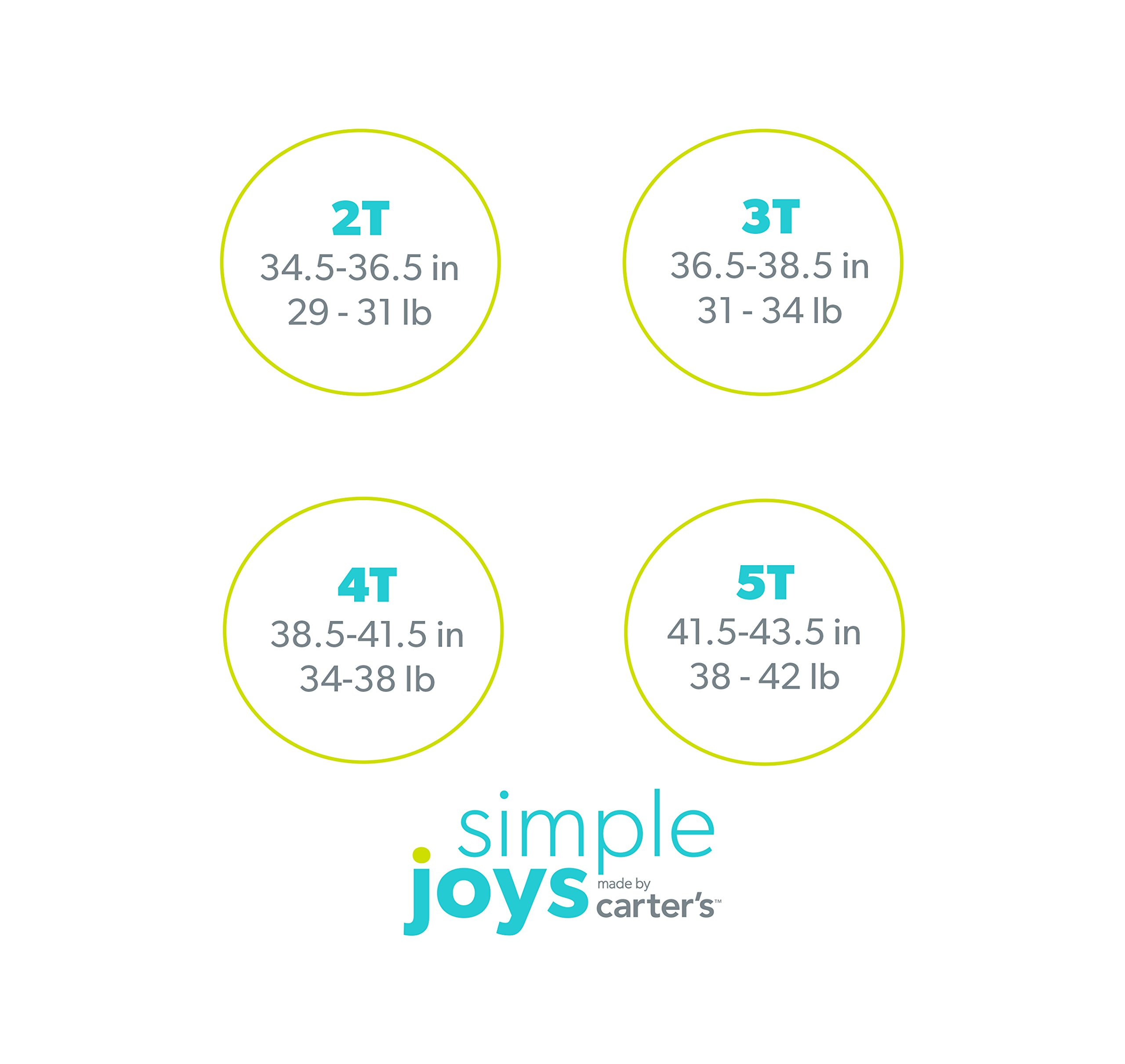 Simple Joys by Carter's Boys' 3-Pack Loose Fit Flame Resistant Polyester Jersey Footed Pajamas, Food/Trucks/Alligator 18 Months by Simple Joys by Carter's (Image #4)