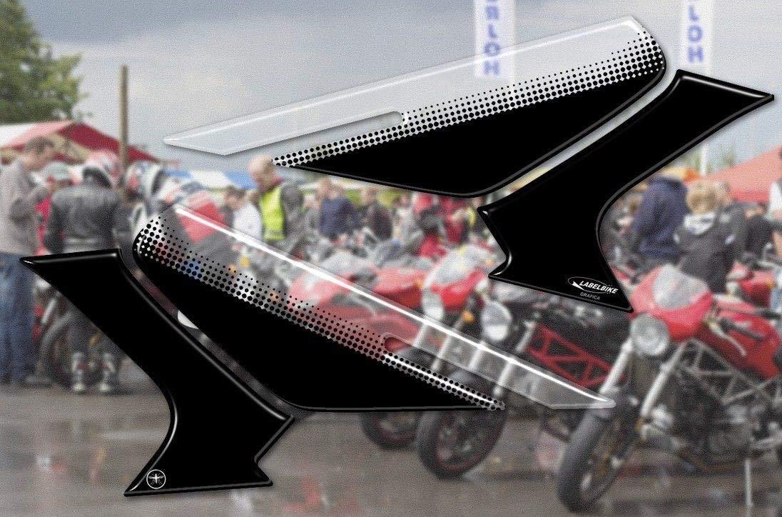 kit ADESIVI 3D PROTEZIONI LATERALI compatibili per MOTO BMW GS R1250 EXCLUSIVE