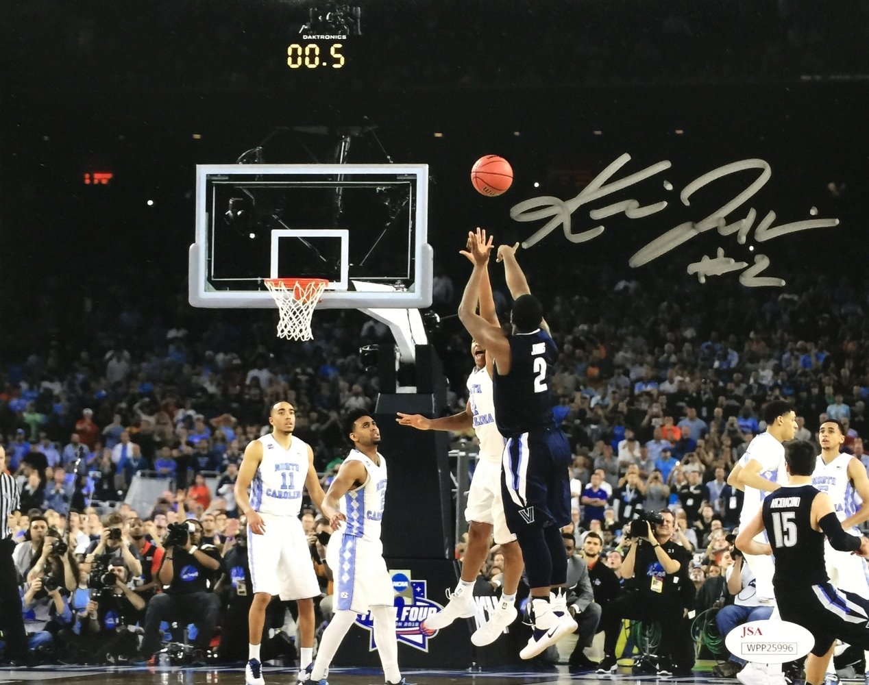 Kris Jenkins Signed 8x10 Villanova Wildcats The Shot Photo JSA