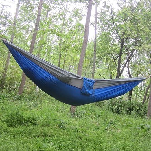 yangz Hamaca Doble portátil de Nailon para jardín, Camping, Viajes ...