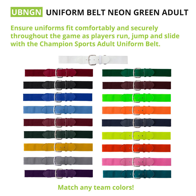 Champion Sports Adult Baseball Uniform Belt