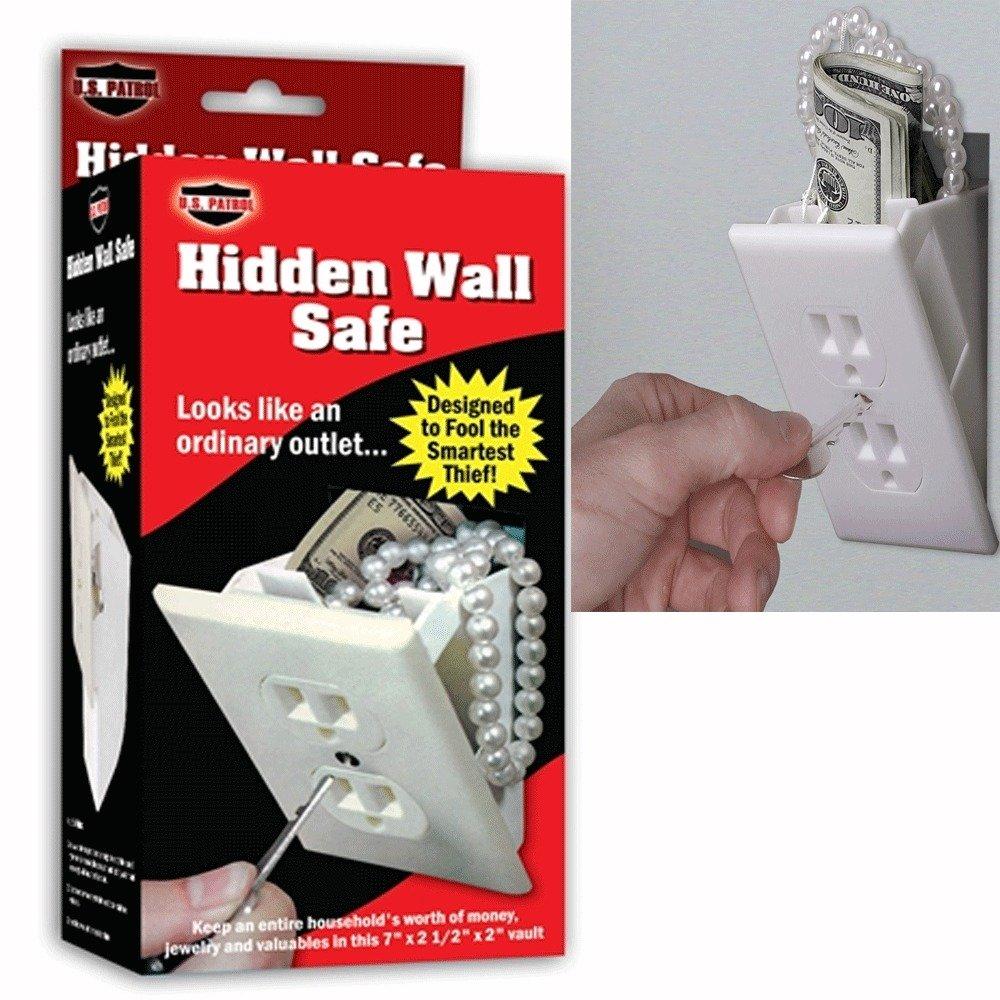 Hidden Wall Safe Security Electrical Outlet Keys Vault Secret Hide Valuables, New,