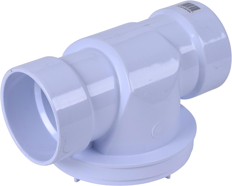 Midline Valve PVC Inline Check Valve for Backflow Prevention 1 Solvent Connections White Plastic 4I2T100