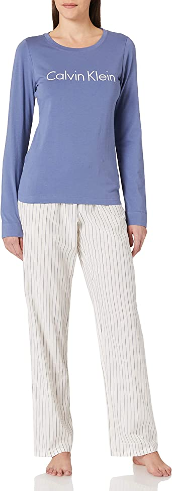 Calvin Klein L/S Pant Set Juego de Pijama para Mujer