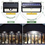 BAXIA TECHNOLOGY Solar Lights Outdoor, Wireless 100 LED Solar Motion Sensor Lights Waterproof Security Wall Lighting Outside for Front Door, Backyard, Steps, Garage, Garden
