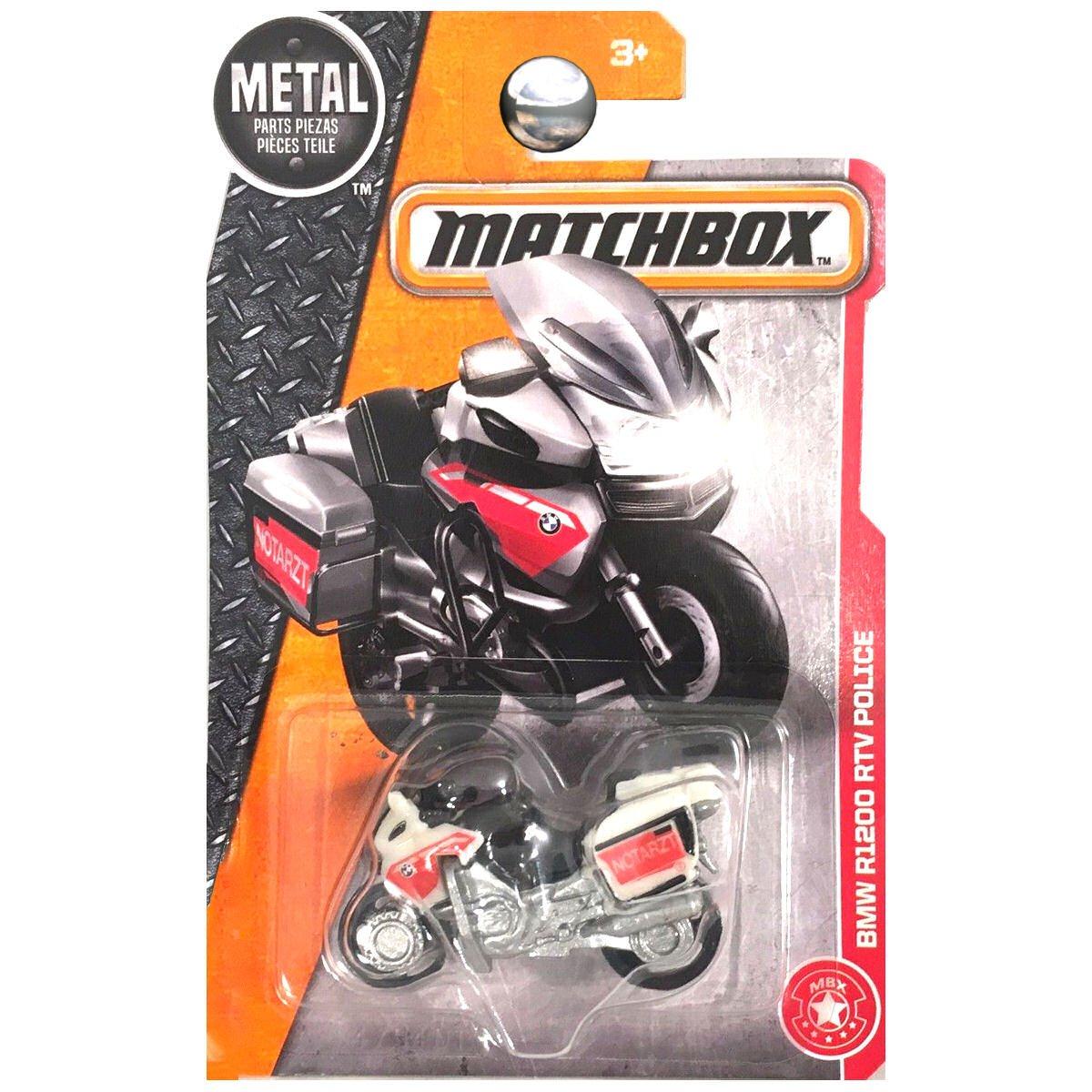 Motorcycle White MATTEL SG/_B00OU10FVE/_US Matchbox 2017 MBX Heroic Rescue BMW Model R1200 RTV Police 78//125