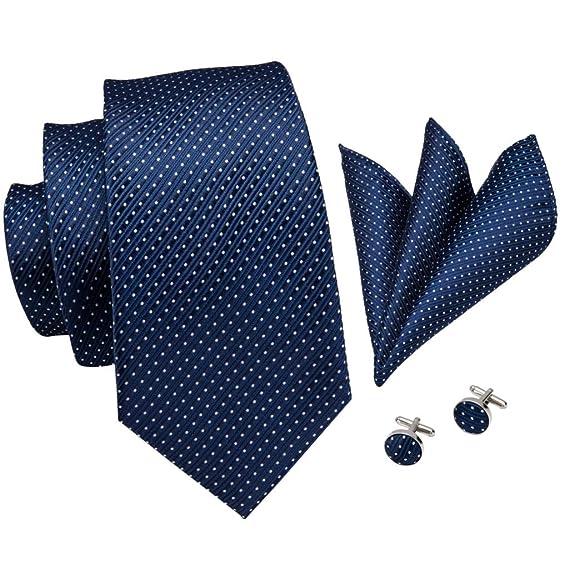 Corbata Pañuelo Conjunto Clásico Regalo Sólido Para Hombres Fiesta ...