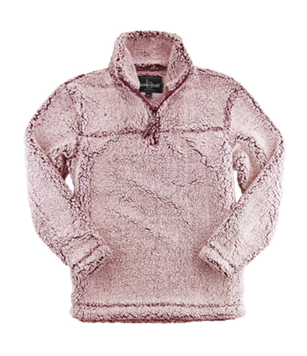 Boxercraft Youth Super Soft 1/4 Zip Sherpa Pullover-Snowy Garnet-large