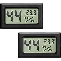 EEEKit 2-Pack LCD Termómetro Digital de Temperatura, Humedad Termómetro, Mini Termómetro Digital Higrómetro y Medidor de…