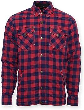 Bores Lumberjack Chaquetas de camisa cuadros de color rojo y resistentes, Impermeable, color rojo y negro, tamaño 4 xl