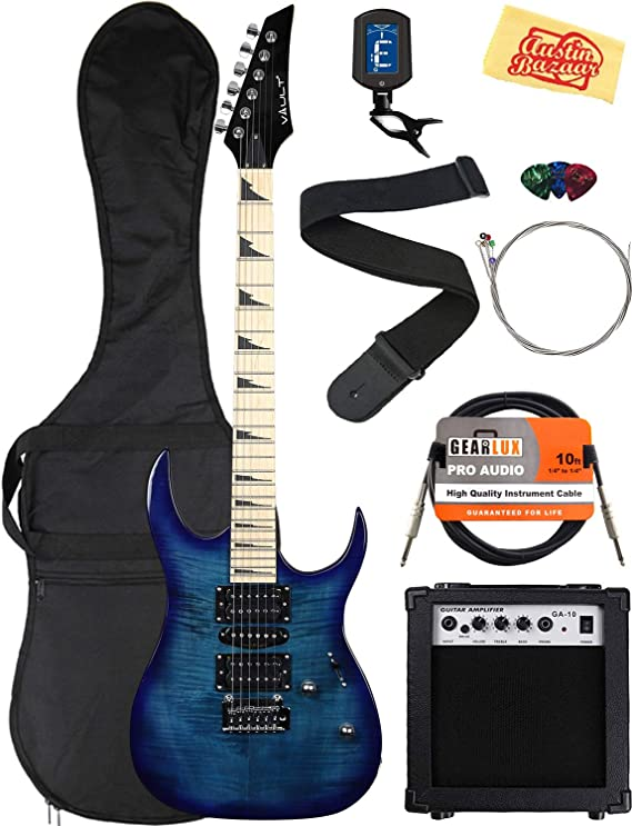 Vault Electric Guitar Bundle with Amplifier