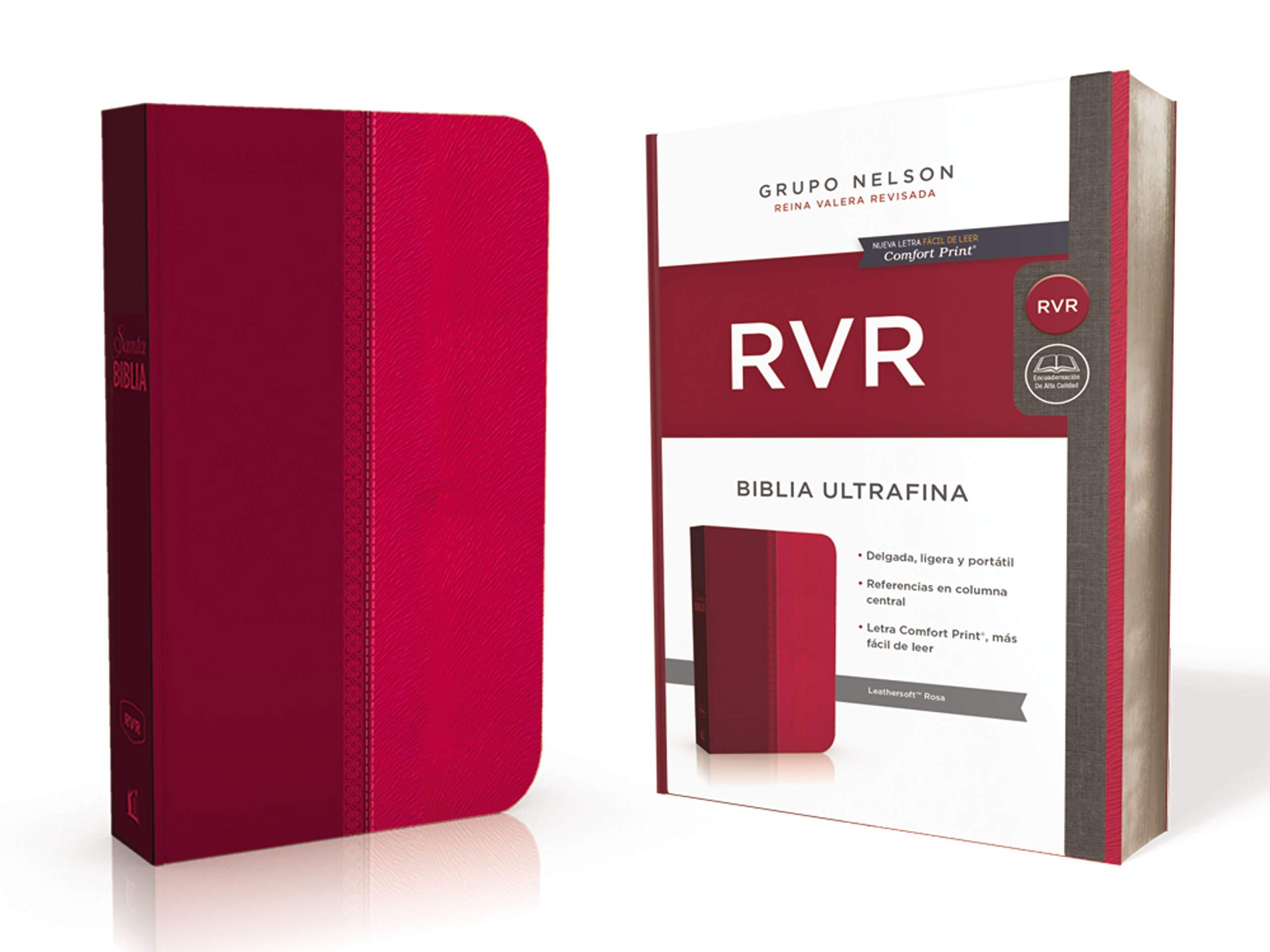 Santa Biblia Reina Valera Revisada (RVR) Ultrafina, Rosa (Spanish Edition): Reina Valera Revisada: 9781400210824: Amazon.com: Books