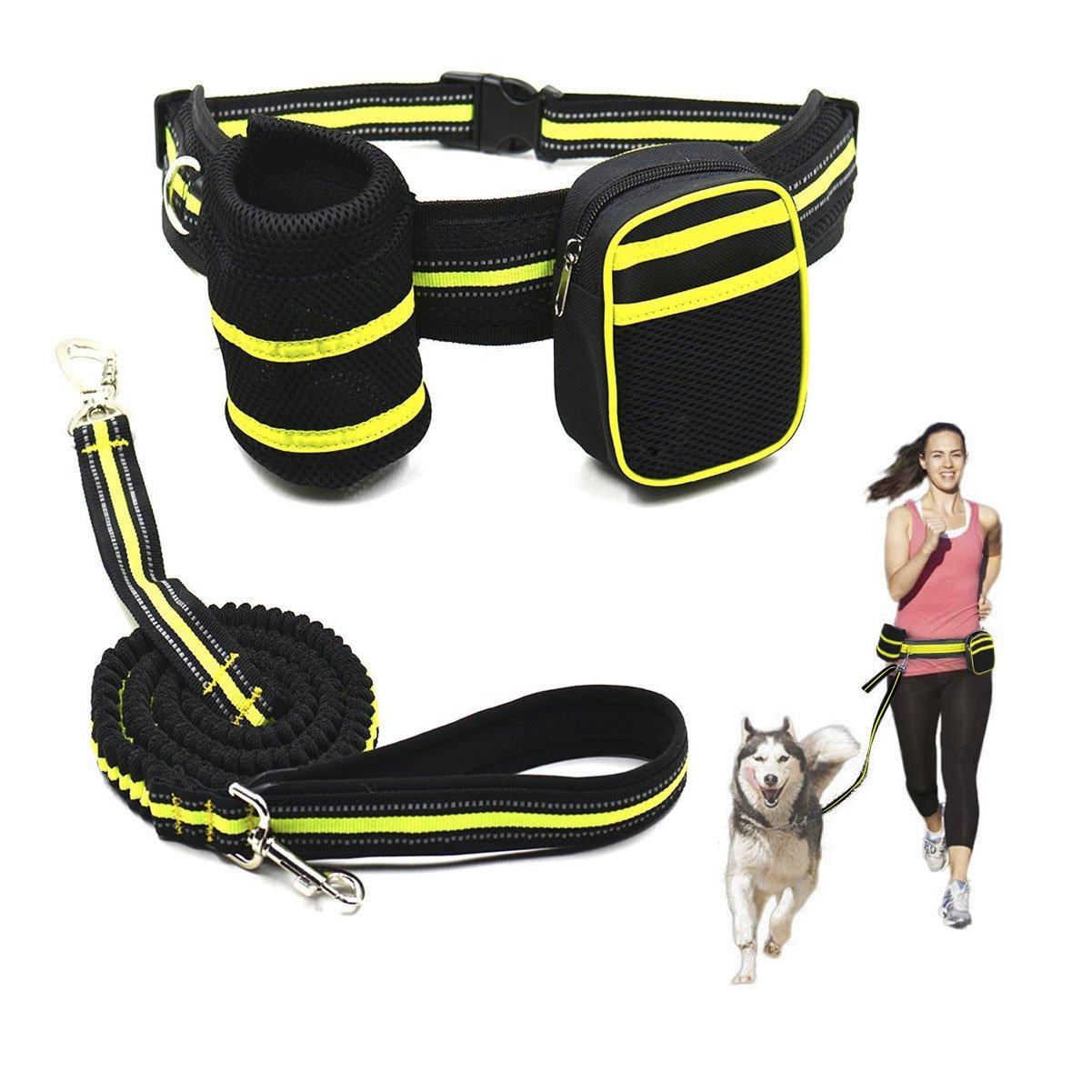 Ewolee Manos Libres Correa Perros Extensible 135-225cm, Correa de Perro para Correr con Correa Perro Cintura - Verde: Amazon.es: Deportes y aire libre