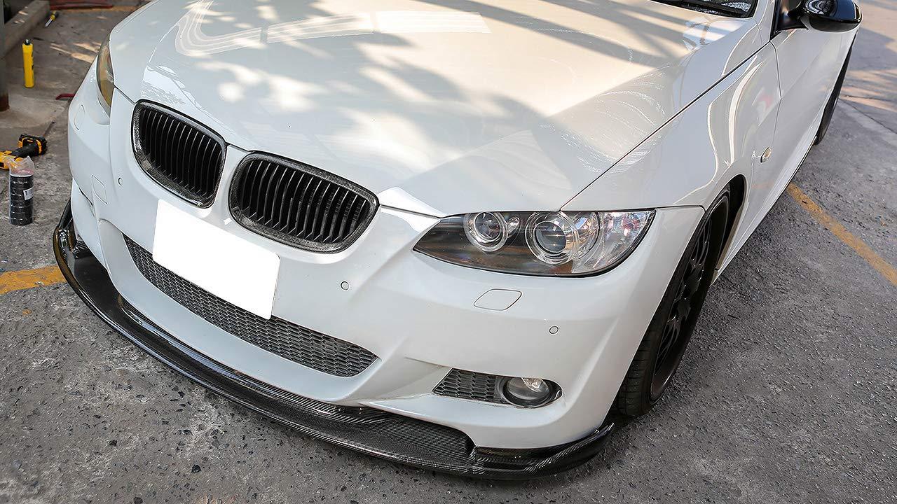HM Style Carbon Fiber Front Bumper Spoiler Lip Fits 2007-2010 BMW E92 E93 M Tech /& M Sports
