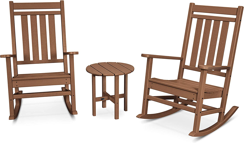 POLYWOOD Rocker Rocking Chair Set Mahogany