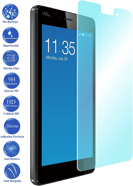 REY Protector de Pantalla para WIKO Birdy 4.5 Cristal Vidrio Templado Premium
