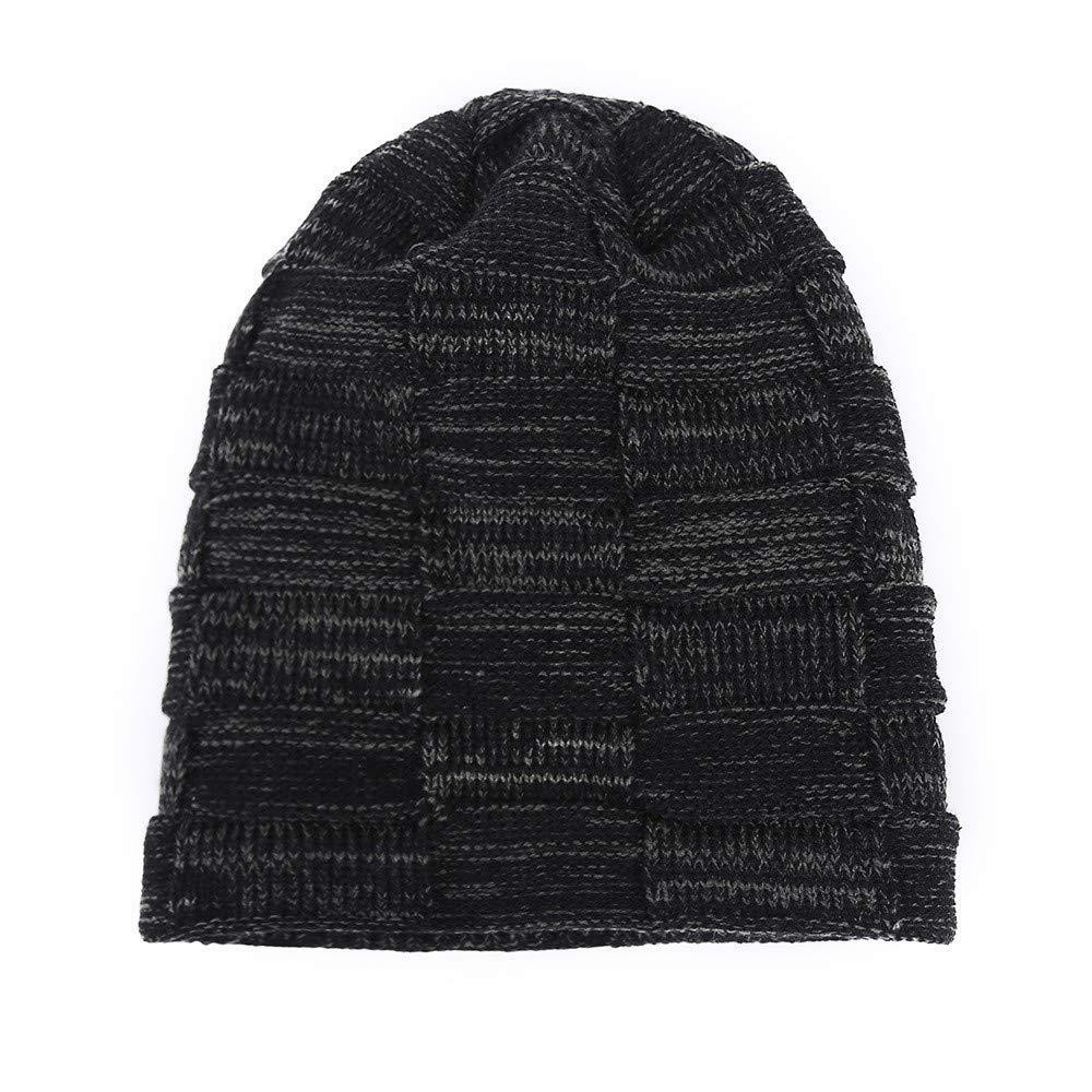 ,One Size Aotifu Unisex Beanie Hat for Men and Women Winter Warm Hats Knit Slouchy Thick Skull Cap Faux Fleece Ski Cap Hats