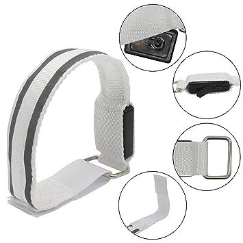 Lot de 2 USB LED rechargeable Brassard de sport LED clignotante Band  Bracelets de poignet Arm 8e0ffca0213