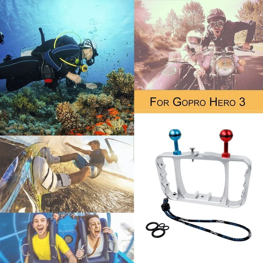 Jullynice Diving Photography Bracket Aluminium Alloy Action Camera Diving Accessories Handheld Holder for Gopro Hero 3 Accessories