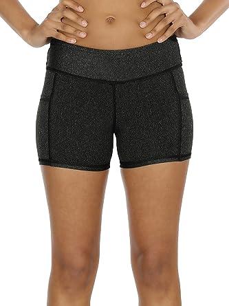 Amazon.com  icyzone Workout Running Shorts Women - Yoga Exercise Athletic  Shorts Capris  Clothing 41d35bd477
