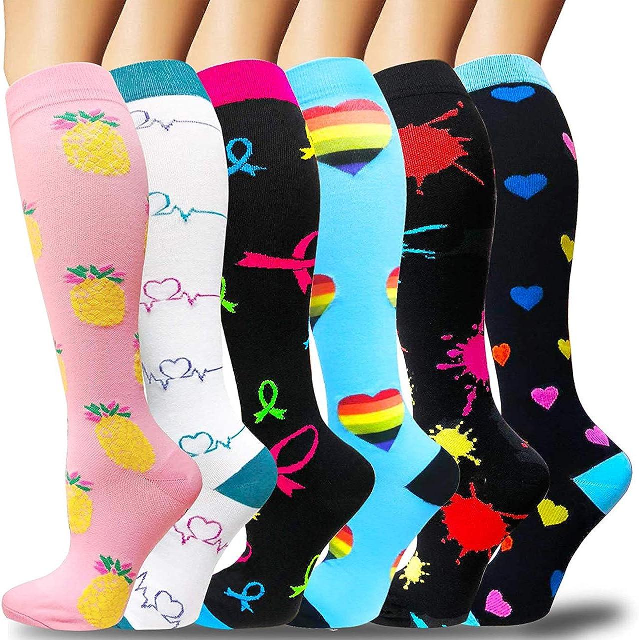 Sooverki Calcetines de compresión para Mujeres y Hombres 20-25 mmHg es el Mejor Graduado atlético, Correr, Volar, Viajar, Enfermeras.