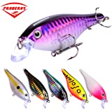 Proberos Crankbaits Set Lure Fishing Hard Baits Swimbaits Boat Ocean Topwater Lures Kit Fishing Tackle Hard Baits Set For Trout Bass Perch Fishing Lures Set