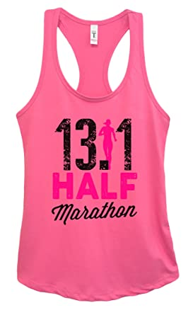 "abc713cda7bbc Womens Basic Running Marathon Tank Top ""13.1 Half Marathon"" Funny Threadz  Small"