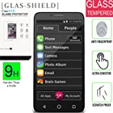 JITTERBUG SMART (5.5inch) [Glass Screen] [9H] HD Clear Clarity and Touchscreen .03mm Tempered Glass Protector [GLAS SHIELD] JITTERBUG SMART (5.5inch)