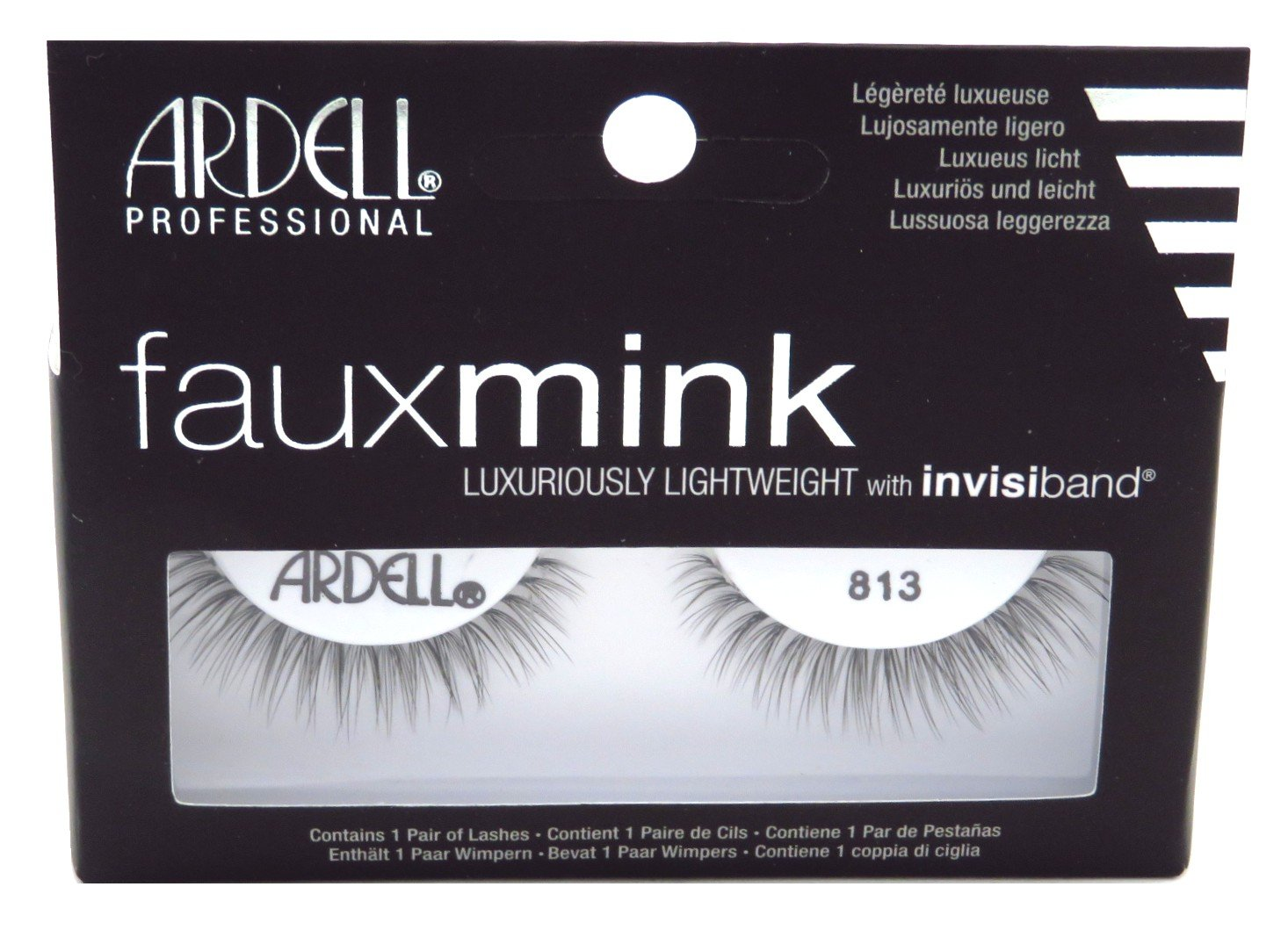 f111540012d Amazon.com: Ardell Faux Mink #813 Black Lashes (3 Pack): Beauty