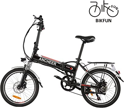 BIKFUN Bicicleta eléctrica Plegable, Bicicleta de Trabajo, E-Bike -Fold 20