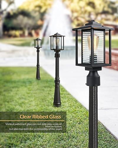 Outdoor Post Light Fixture 2 Pack JAZAVA Post Lantern Exterior Street Light