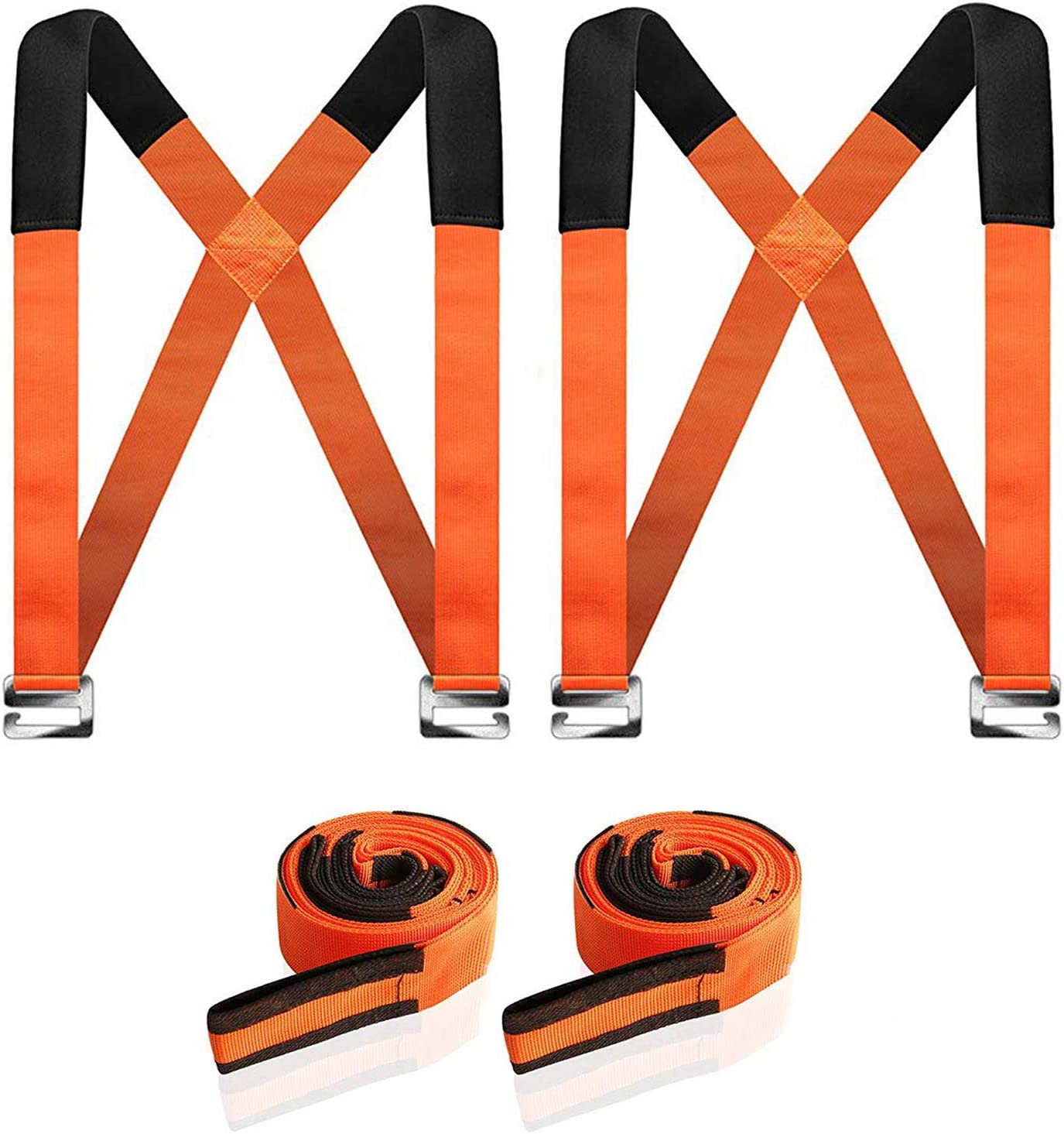 Moving Straps, YTTAO Moving and Lifting Straps, High Density Multifunctional Moving Belts, for Carrying Goods, Furniture, Appliances, etc (2 Pairs of Safety Gloves Included, New Package)
