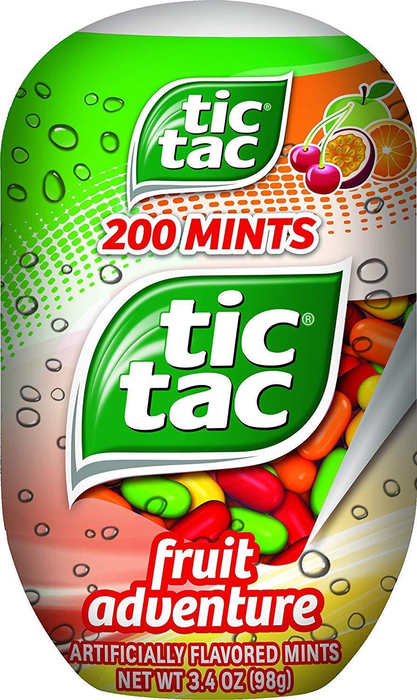 Tic Tac Mints, Fruit Adventure, 3.4 oz. Bottle Pack