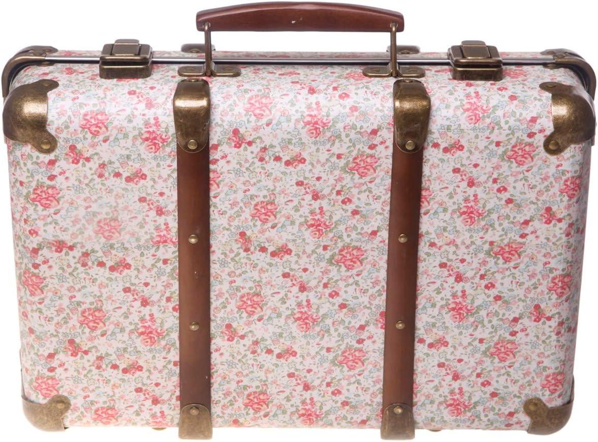Maleta Vintage Sass and Belle con Estampado de Flores - Rosas