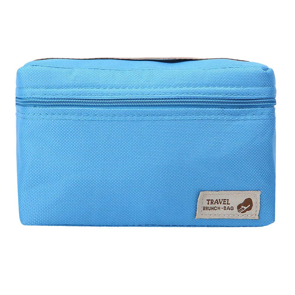 ♚Rendodon♚ Storage Bag, Household Storage, Foldable Lunch Box Bag, Lunch Picnic Storage Bag, Outdoor Portable Insulated Thermal Cooler Bento Lunch Box Picnic Storage Bag (Blue) by ♚Rendodon♚ (Image #3)