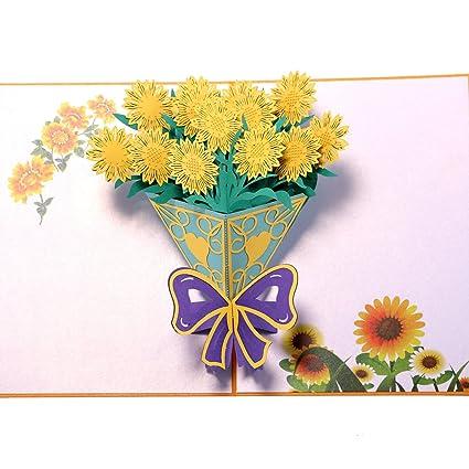 Amazon Paper Spiritz Sunflowers Bouquet Pop Up Flower Cards